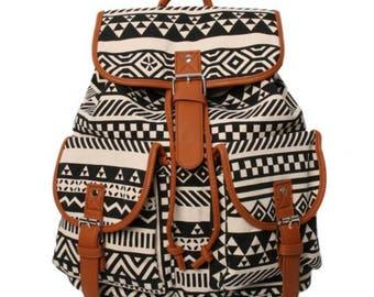 Brand New Tribal Print Large Backpack