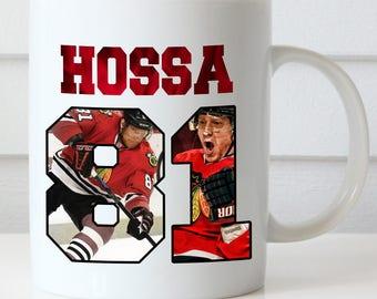Marián Hossa Coffee Mug, Chicago Blackhawks, Hossa 81