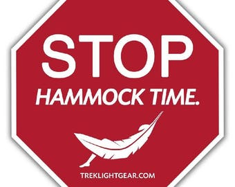 Hammock Time Sticker - Hammock Life, Camping, Hiking