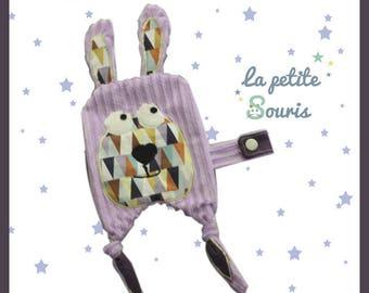 flat plush attached Lollipop, cotton and velvet minkee lilac collection Lilizou