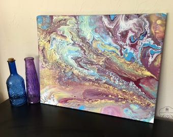 Eurybia Purple Fluid Acrylic Painting