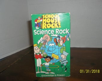 1995 school house rock science rock knowledge is power video vhs movie