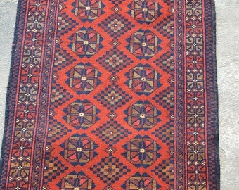 BIG SALE 3u00272 X 1u00279 FT Beautiful Afghan Handmade Vintage Turkoman Khall