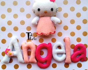 Name personalized Hello Kitty / Custom Name / Baby name / Personalized baby name