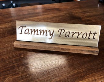 Name plate for desk Etsy