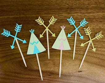 Boho Baby Cupcake Toppers