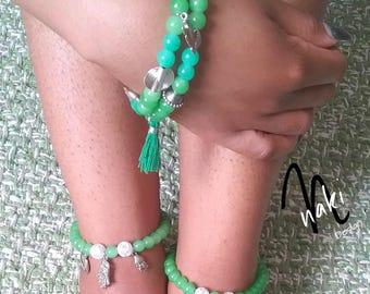 Green Ankle Bracelets