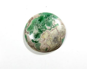 71Cts Variscite Cabochon Round Loose Gemstones Calibrated Size Gems Top AAA Quality Natural Variscite Gemstone For Jewelry Making 39X39X6mm