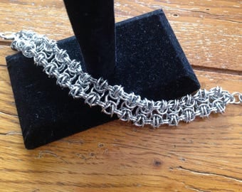 Stainless Steel Chainmaille Bracelet, Chainmail Jewelry