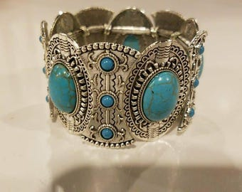Turquoise/Silver Bracelet