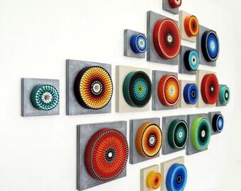 Composition #20 - Abstract Wall Sculpture Installation - 3D Wall Art - Modern Wall Art - Home Decor - Contemporary - Wall Accent