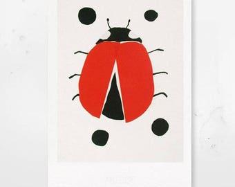 Ladybug - type print A4 / A3