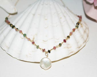 Gemstone and Pearl Necklace