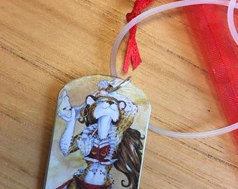 Dancer with Bones Dogtag Pendant