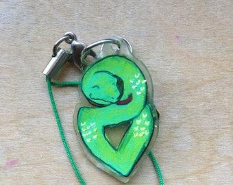 Daughter's Green Snake Cellphone Charm*