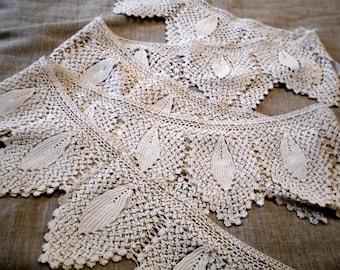Crochet lace irish Crochet lace border 4M Vintage irish lace Irish lace crochet victorian lace glove Vintage crochet trim Irish lace doily
