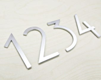 "Aluminium Numbers 4"" Metal House Numbers,MCM Numbers,Address, Metal Numbers, Letters"