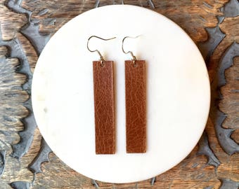Saddle Leather Drop Earrings