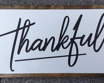 Thankful framed sign