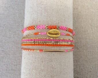Rosita version fuchsia and orange bracelet