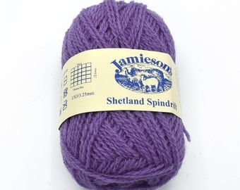 Purple Yarn - Fair Isle - Shetland Yarn - Destash Yarn - Shetland Wool - Yarn for Sale - Natural Fiber Yarn - Knitting Yarn - Knitting Wool