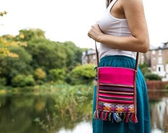 Peruvian Bag | Ayahuasca | Shamanic | Tribal | Medicine Bag | Ceremony Bag | Pink