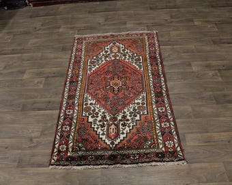 Lovely S Antique Handmade Tribal Hamedan Persia Rug Oriental Area Carpet 3ʹ8X6ʹ5