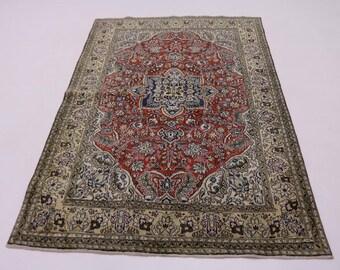 Super Fine Tree of Life Shahreza Persian Kork Wool Oriental Area Rug Carpet 5X7