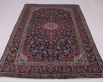 Amazing Palace Size Navy Blue Kashan Persian Rug Oriental Area Carpet 9'5X15'4