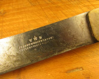 Antique Kitchen Butchers Knife Joseph Rodgers and Sons Cutlers To Her Majesty Queen Victoria Shabby