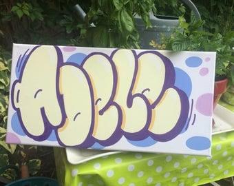 graffiti name canvas
