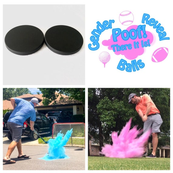 HOCKEY PUCK Gender Reveal Puck Pack (Custom Combinations) Gender Reveal Hockey Puck
