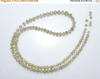 "50% OFF Exclusive AAA Quality Natural Diamond Faceted Rondelle Beads ,String In Wire ,Natural Diamond, 2.75-3.75 mm ,12"" - DD120"