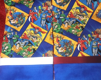Super Heroes Pillowcase Batman Superman Wonder Woman Flash