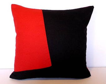 POLIAKOFF 1 pillow cover, red and black 40 x 40