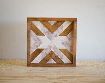"Wood Wall Art - 12"" x 12"" x 1.5"" - Mixed Colors"
