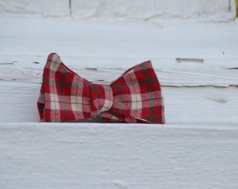 The Red Flannel Plaid Bow Tie | Father Son Matching Bow Ties, HANDMADE CUSTOM ORDER, Pre-Tie or Self-Tie | Mens, Boys, Toddler or Baby