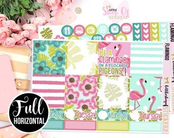 Flamingo || Planner Stickers, Weekly Sticker Kit, Weekly Planner Sticker Kit, No White Space Planner Kit, Summer Planner Stickers