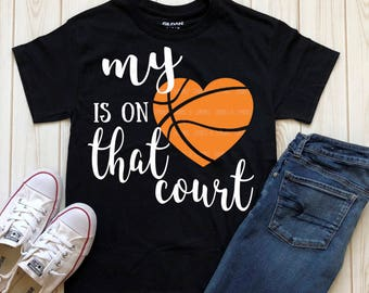 Basketball Mom SVG, Basketball svg, Proud mama svg, My heart is on that court svg, Proud mom, instant download, Basketball svg, SVG, dxf