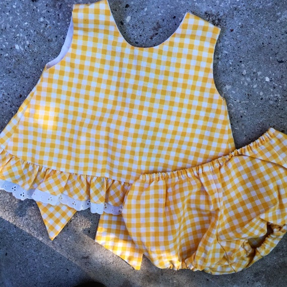vintage baby sunsuit two piece
