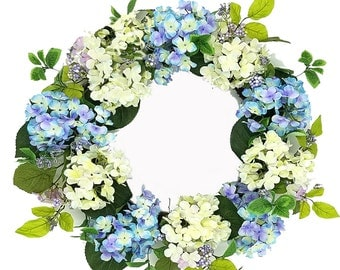 "ESE Hydrangea Wreath, 24""  Blue/Purple , Pink/white"