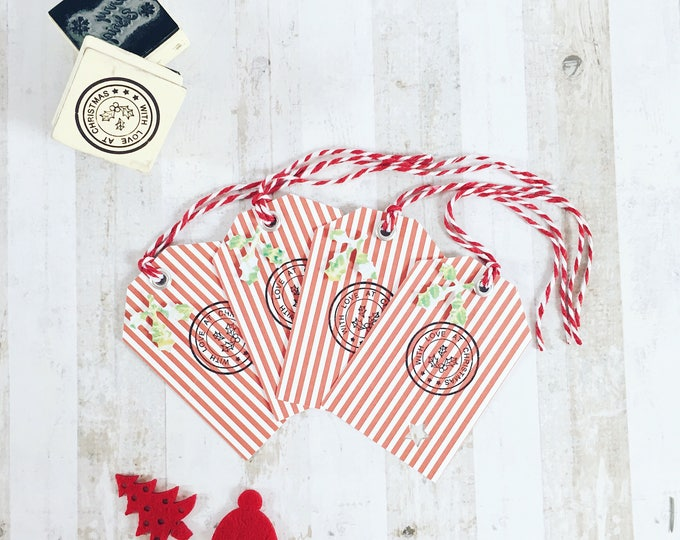 """with love at christmas"" 4 pack gift tags"