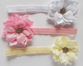 Flower Rhinestone Baby Headband