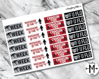 Sarcastic Period Tracker Stickers for Planners
