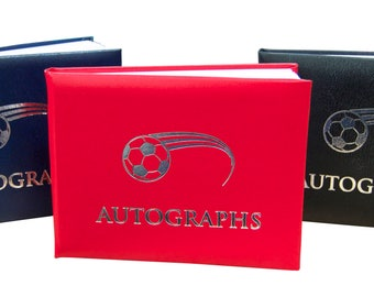 Football Autograph Book - Available in 3 colours