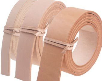 """1 Pc Vegetable Tanned Leather Natural Strip Leather Belt Straps Blank DIY  9/16"""" 1"""" 1.5"""" 14 24 39mm 100cm to 130CM"""