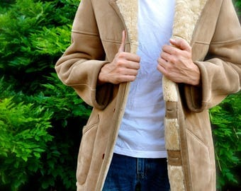 Vintage Scully Shearling Jacket Men's Size 42