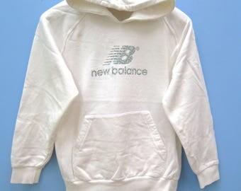 Vintage New Balance Big Logo Sport Sweatshirt Hoodies Pull Over Crewneck Street Wear Size L