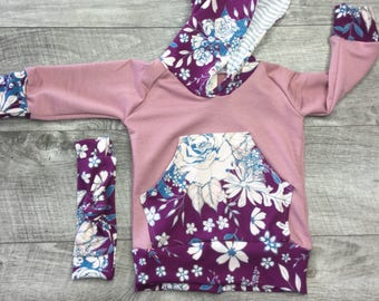 Baby girl hoodie outfit / baby girl clothes / hoodie and sweats / take home outfit / baby shower gift