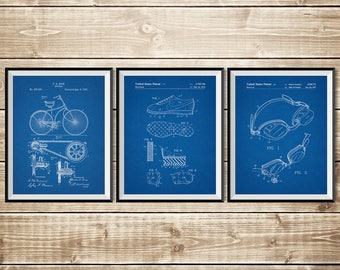 Triathlon Art, Triathlon Print, Patent Print Group, Patent Print Set,Triathlon Printable,Triathlon Cycling,Triathlon Gifts, INSTANT DOWNLOAD